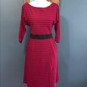 Kay Unger | 3/4 Sleeve Fuschia Dress